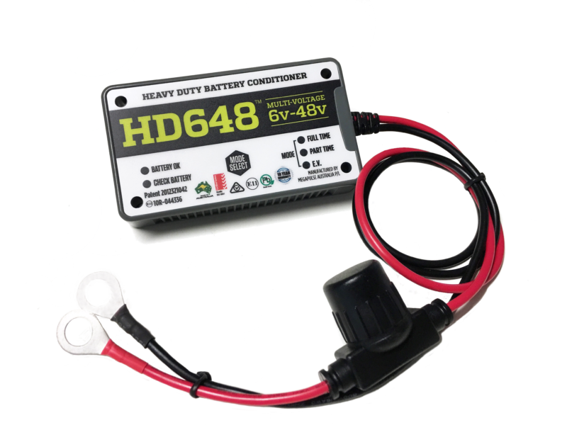 Batterij desulfatoren HD648 Battery desulfators désulfateurs Batteriedesulfatoren