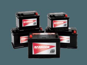 Hankook starter batteries startbatterijen batteries de démarrage Starterbatterien
