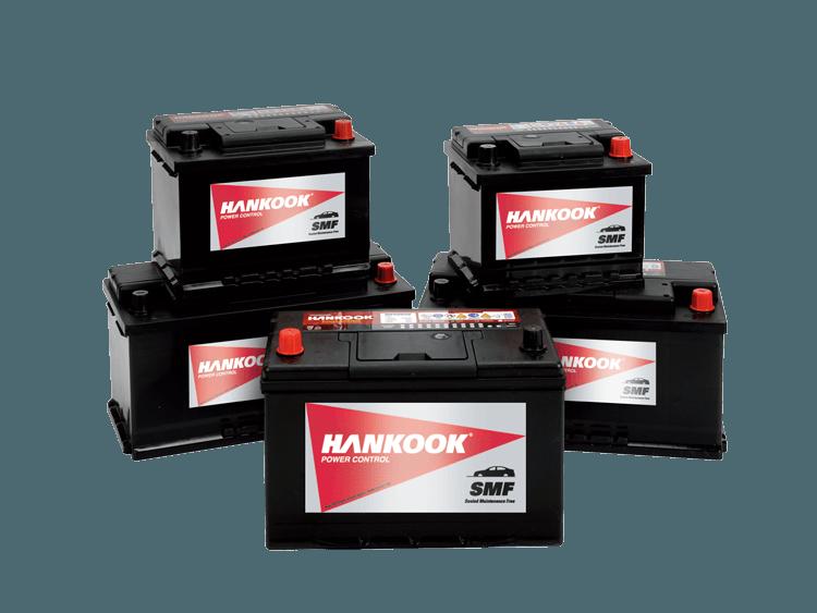 Hankook starter batteries startbatterijen batteries de démarrage