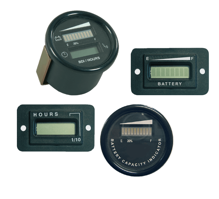 ontlaadmeters discharge indicators Indicateurs de décharge