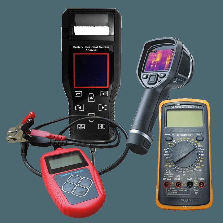 meet-en testapparatuur Appareils de mesure et de test Mess- und Testgeräte