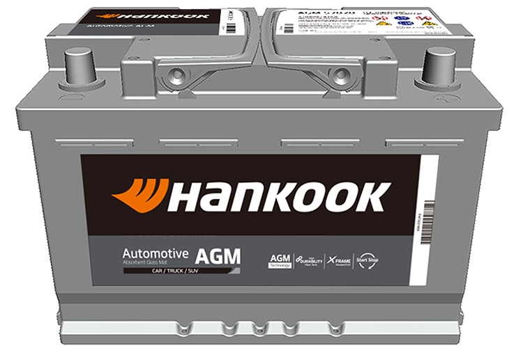 Hankook startbatterijen start batteries de démarrage AGM