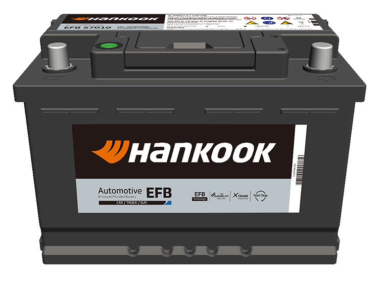 Hankook startbatterijen start batteries de démarrage EFB